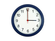 Clock showing 3 o'clock Royalty Free Stock Photography