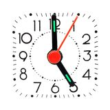 Clock showing 5 o'clock Stock Images