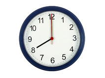 Clock showing 8 o'clock Royalty Free Stock Photography