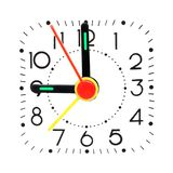 Clock showing 9 o'clock Stock Images