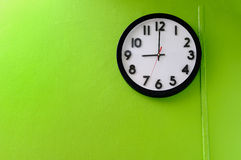 Clock showing 9 o'clock Royalty Free Stock Images
