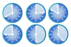 Clock showing different times Stock Image