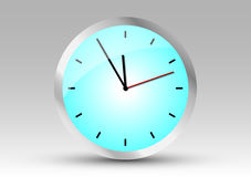 Clock showing five to twelve Royalty Free Stock Image