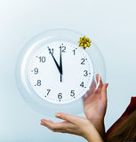 Clock showing midnight Stock Image