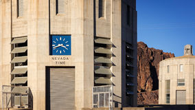 Clock Showing Nevada Time at The Hoover Dam Royalty Free Stock Photo