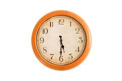 Clock showing 5:30 o'clock Stock Photo