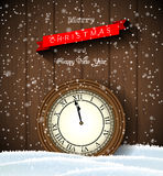Clock showing one minute to twelve, new year Royalty Free Stock Photography