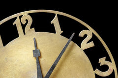Clock showing time. Royalty Free Stock Photography