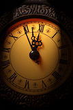 Clock showing time about twelve Stock Photo