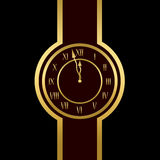 Clock is showing almost twelve Royalty Free Stock Images