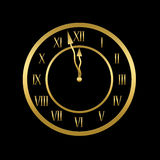 Clock is showing almost twelve Royalty Free Stock Photos