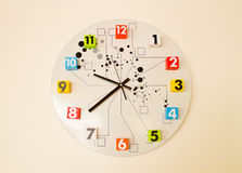 The clock shows 9:30 Royalty Free Stock Photos