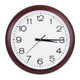 Clock shows fifteen minutes of the fourth Royalty Free Stock Image