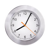 Clock shows five minutes of the ninth Stock Images