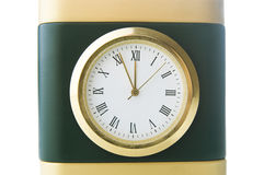 Clock shows five minutes to twelve Royalty Free Stock Photography