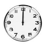 Clock sign 12 O'Clock. Clock that sign 12 O'Clock isolated on white Royalty Free Stock Photo