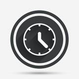 Clock sign icon. Mechanical clock symbol. Stock Photography