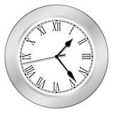 Clock - Silver Royalty Free Stock Photos