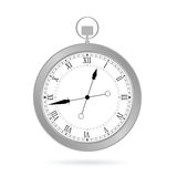 Clock silver vector Royalty Free Stock Photo