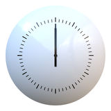 Clock. Simple clock hands at 12 Royalty Free Stock Photography