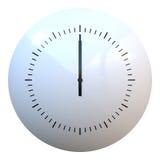 Clock. Simple clock hands at 12 vector illustration