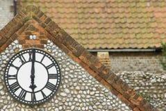 Clock at six o'clock Royalty Free Stock Images