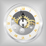 Clock-skeleton. Royalty Free Stock Photography