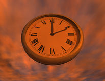 Clock in the Sky Stock Photos