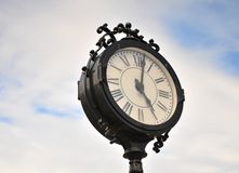 Clock in the sky Royalty Free Stock Photo