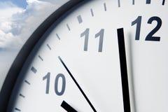 Clock and sky Royalty Free Stock Photos