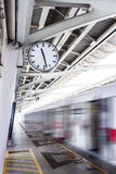 Clock in skytrain station Royalty Free Stock Image