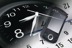 Clock, Smart Phone and Calendar Royalty Free Stock Images