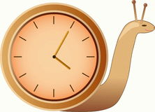 Clock  snail Stock Images
