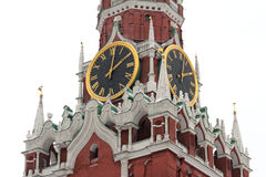 Clock of Spassky Tower, Moscow Kremlin Stock Photography