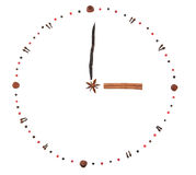 Clock from spices Royalty Free Stock Photo