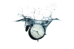 Clock Splash Royalty Free Stock Photography