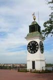 Clock står hög i ledsna Novi Fotografering för Bildbyråer