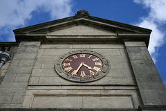 Clock, St Andrews clubhouse. Scotland Stock Photo