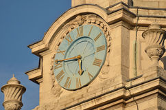 Clock at St Martins in the Field Royalty Free Stock Image
