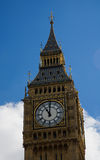 Clock on St Stephen's Tower / Big Ben. The clock on St Stephen's Tower, part of the Houses of Parliament at the Palace of Westminster in London royalty free stock image
