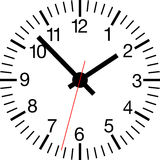 Clock_standard Fotos de Stock Royalty Free