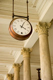 Clock at the station. Royalty Free Stock Photo