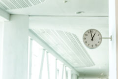 Clock station, time concept Stock Image