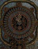 Clock in Steampunk Style Royalty Free Stock Photos
