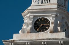 Clock on Steeple on New England Church Royalty Free Stock Image