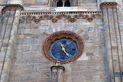 Clock at Stephansdom cathedral in Vienna Austria Stock Photos