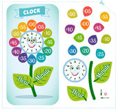 Clock sticker game for children Royalty Free Stock Photo
