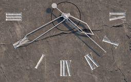 Clock On Stone Stock Image