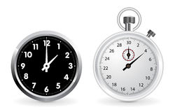 Clock and stopwatch Stock Photography