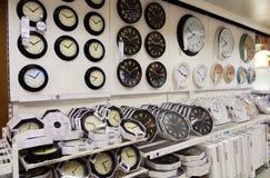 Clock store retail shop Royalty Free Stock Image